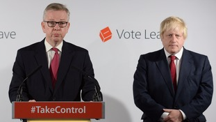 Vote Leave leaders Michael Gove and Boris Johnson have insisted their is no rush to begin Britain's EU exit process.