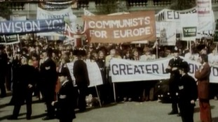 Campaigning during the 1975 Referendum on Europe
