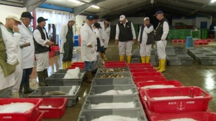 There were happy faces at fish markets across the South West this morning