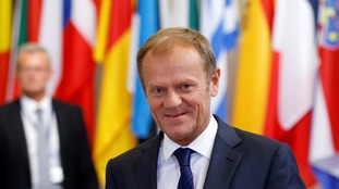 European Council president Donald Tusk has called for negotiations on Britain's exit to begin quickly.