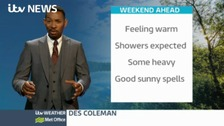 Des Coleman brings you the forecast for the West Midlands