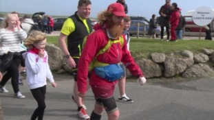 Britain's 'Forest Gump' makes history