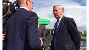 Defence Secretary Michael Fallon who is in Cleethorpes for Armed Forces Day