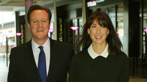 The Prime Minister and his wife arrive in Birmingham