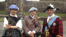 'Bonnie Prince Charlie' (right) and his men