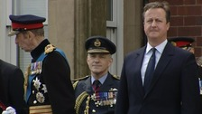 Mr Cameron watched the parade but made no public speech