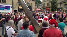 Hebden Bridge celebrate Christmas in June