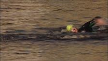 Henry Winter swims Tyne