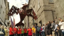 Hundreds line the streets of Penzance for Mazey Day