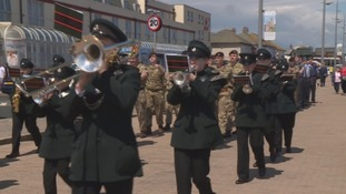 Armed Forces Day parade along the Seaburn seafront