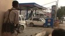 Police officials surrounded the Nasahablood Hotel in Mogadishu.