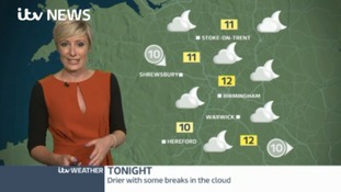 West Midlands Weather: Becoming dry overnight
