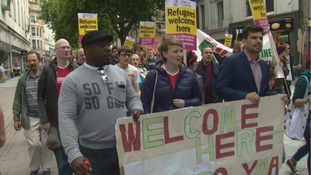 Rally held in solidarity with migrants following EU referendum