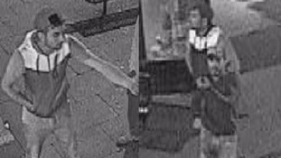 The two suspects captured on CCTV