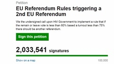 Over two million sign petition for second EU referendum