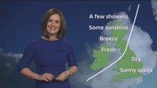 Weather: Sunshine in the east, rain in the west