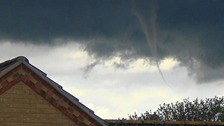 A funnel cloud spotted at Stoke Ferry in Norfolk on Saturday 25 June 2016.