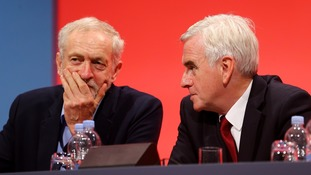 John McDonnell has backed Jeremy Corbyn (L)