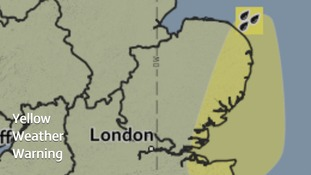 Eastern parts of Essex, Norfolk and Suffolk are included in a Met Office yellow weather warning.