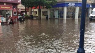 Flooding in Ramsgate last night