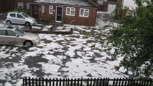 Severe flash flooding and ice floes in Kent