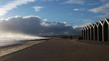 Mixed skies over Redcar  LYNDA PARKER