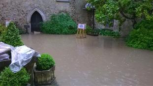 Flooding at Ightham Mote