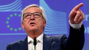 European Commission President Jean-Claude Juncker was not sympathetic to Britain's decision