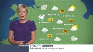 Central Weather: Rain gradually clearing overnight. Drier and brighter tomorrow