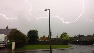 Lightning over Brandon