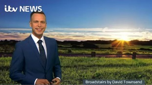 Sunday evening's weather for the east of the region