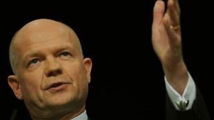 William Hague at the Conservative Party Conference today