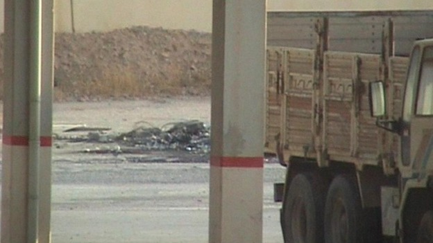The Syrian shell landed inside the Turkish border
