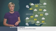 Wales Weather: Rain gradually clearing overnight