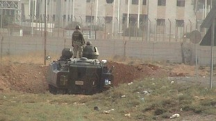 The Turkish army are returning fire across the Syrian border