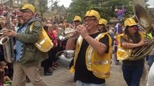 Handmade parade in Hebden Bridge six months after floods