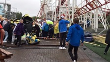Three children is a 'serious condition' after rollercoaster derails