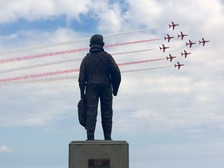 The red arrows display at the event