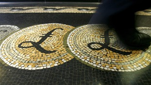 Sterling was quoted at $1.34 on Monday