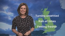Weather: Brightening up on Monday
