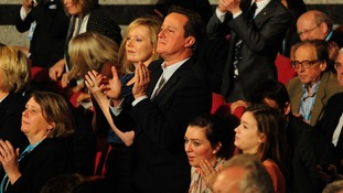 David Cameron in the crowd at the Conservative Party Conference