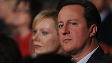 Foreign Secretary William Hague's wife Ffion and Prime Minister David Cameron
