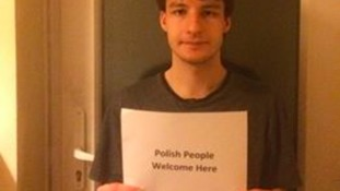 Huntingdon man launches own campaign to fight back against 'no more Polish vermin' cards