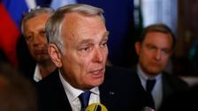 France's foreign minister Jean-Marc Ayrault.
