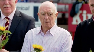 Bernard Kenny laid a sunflower in honour of Jo Cox