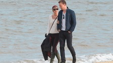 Showbiz lovebirds spotted on Suffolk beach