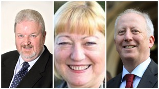 MPs Dave Anderson, Pat Glass and Andy McDonald who have been promoted to the shadow cabinet