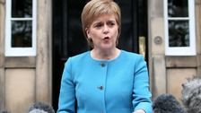 Nicola Sturgeon outside Bute House