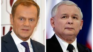 Donald Tusk (L) and Jaroslaw Kaczynski, (R).