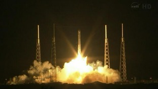 SpaceX's Dragon capsule lifts off fromCape Canaveral in Florida.